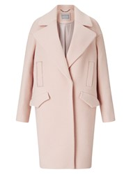 Grace And Oliver Lily Wool Cocoon Coat Pale Pink