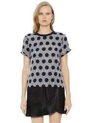 Mother Of Pearl Nell Silk Crepe And Cotton Jersey Top