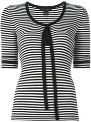 Marc Jacobs Striped Fine Knit Top Black