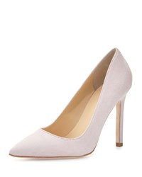 Ivanka Trump Carra Suede Pointed Toe Pump Light Pink
