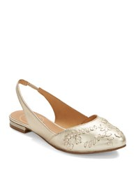Jack Rogers Rory Sling Back Flats Silver