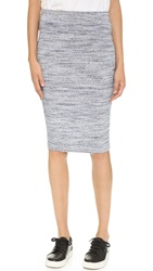 Lna Perille Fitted Knit Skirt Heather Blue