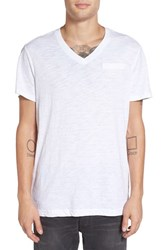 G Star Men's Raw V Neck T Shirt White