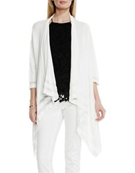 Vince Camuto Cardigan With Sheer Stripes White