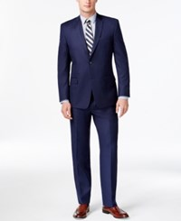Andrew Marc New York Marc New York By Andrew Marc Slim Fit Solid Blue Suit