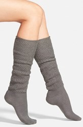 Women's Hue Openwork Slouchy Knee High Socks Graphite