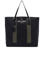 Saint Laurent Beach Shopping Bag In Black