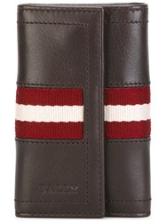 Bally Striped Detailing Elongated Wallet Brown