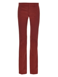 Gucci Wool And Silk Blend Flared Trousers