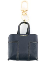 Tory Burch Shopper Tote Keyring Blue