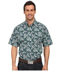 Cinch Short Sleeve Print Navy Men's Short Sleeve Button Up