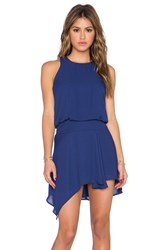 Krisa Asymmetrical Mini Dress Blue