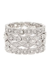 Ariella Collection Antique Stackable Ring Set Metallic
