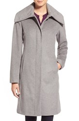 Women's Cole Haan Signature Single Breasted Wool Blend Coat
