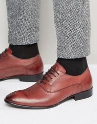 Base London Holmes Leather Oxford Shoes Red