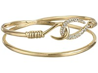Alexis Bittar Orbiting Hook Bangle 10K Gold Bracelet