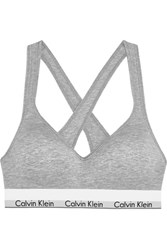 Calvin Klein Underwear Modern Cotton Stretch Cotton Blend Soft Cup Bra Gray