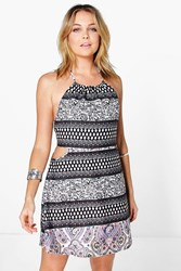 Boohoo Cut Out Halter Neck Sundress Multi