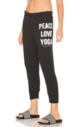 Spiritual Gangster Peace Love And Yoga Sweatpant Black