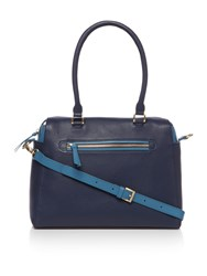 Dickins And Jones Agnes Large Cross Body Bowler Handbag Navy