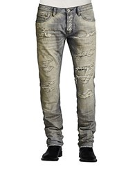 Cult Of Individuality Rebel Straight Este Wash Jeans Grey