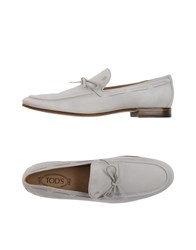 Tod's Footwear Moccasins Men Light Grey