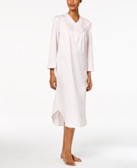Miss Elaine Embroidery Trimmed Nightgown Pink