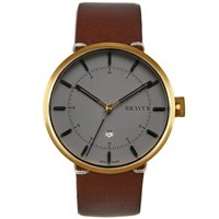 Bravur Watches Bw002 Gold Grey Dial Watch