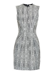 L'agence June Abstract Print Jacquard Dress