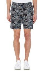 Marc By Marc Jacobs Snake Print Trouser Shorts Blue