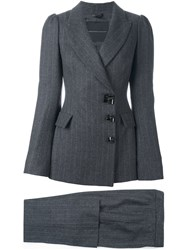 Ermanno Scervino Fitted Trouser Suit Grey