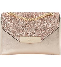 Dune Serenity Sequinned Micro Bag Rose Gold Synthetic