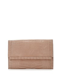 Nancy Gonzalez Crocodile Large Bar Clutch Bag Nude Matte Size L