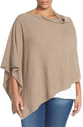 Plus Size Women's Eileen Fisher Cashmere Poncho