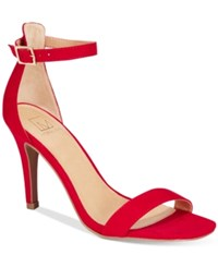 Material Girl Blaire Two Piece Dress Sandals Only At Macy's Women's Shoes Red
