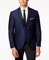 Kenneth Cole Reaction Men's Solid Slim Fit Evening Jacket Charcoal