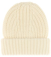 Acne Studios Hoy Wool And Mohair Blend Knitted Hat White
