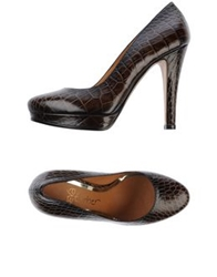 Eva Turner Pumps Dark Brown