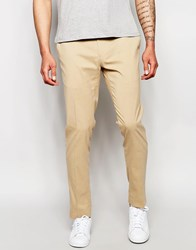 Asos Skinny Fit Smart Trousers Camel Stone