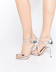 Call It Spring Staval Silver Heeled Strap Sandals Silver