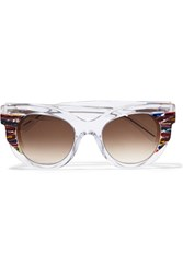 Thierry Lasry Cat Eye Acetate Sunglasses White