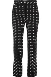 Givenchy Slim Leg Pants In Printed Stretch Crepe Black