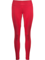 Lygia And Nanny Mid Rise Leggings Red