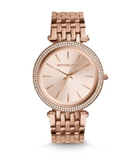 Michael Kors Darci Pave Rose Gold Tone Watch