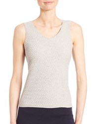 Armani Collezioni Horizontal Chevron Jersey Tank Top Grey