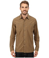 Kuhl Bakbone Long Sleeve Shirt Teak Men's Long Sleeve Button Up Brown