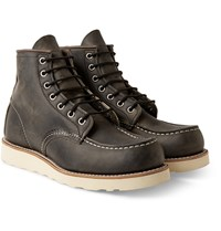 Red Wing Shoes Rubber Soled Leather Boots Gray