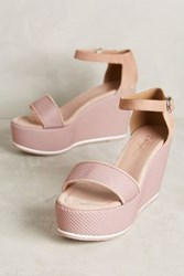 Anthropologie Miss Albright Olin Platforms Pink 36 Euro Wedges