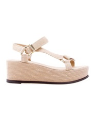 Osklen Wedge Sandal Nude And Neutrals