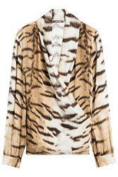 Roberto Cavalli Printed Silk Blouse Animal Prints